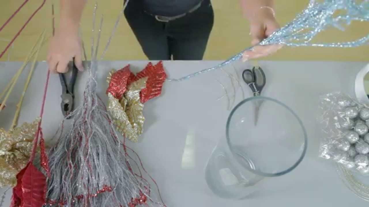 Cómo hacer un centro de mesa de Navidad: [Hazlo tu mismo DIY] Ideas del Hogar por Casa Febus