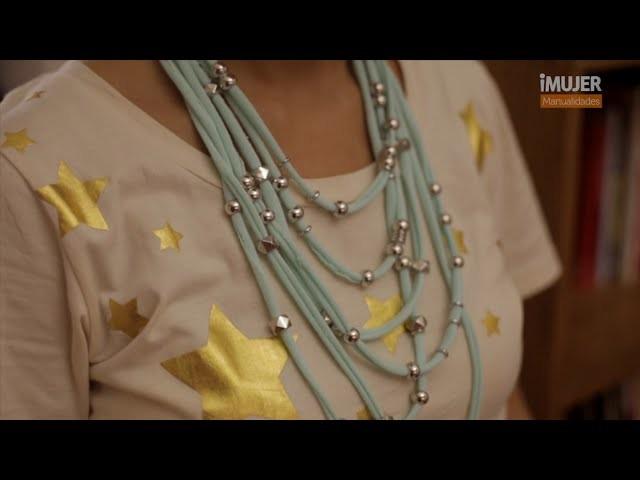 Cómo hacer un collar de tela   @iMujerHogar