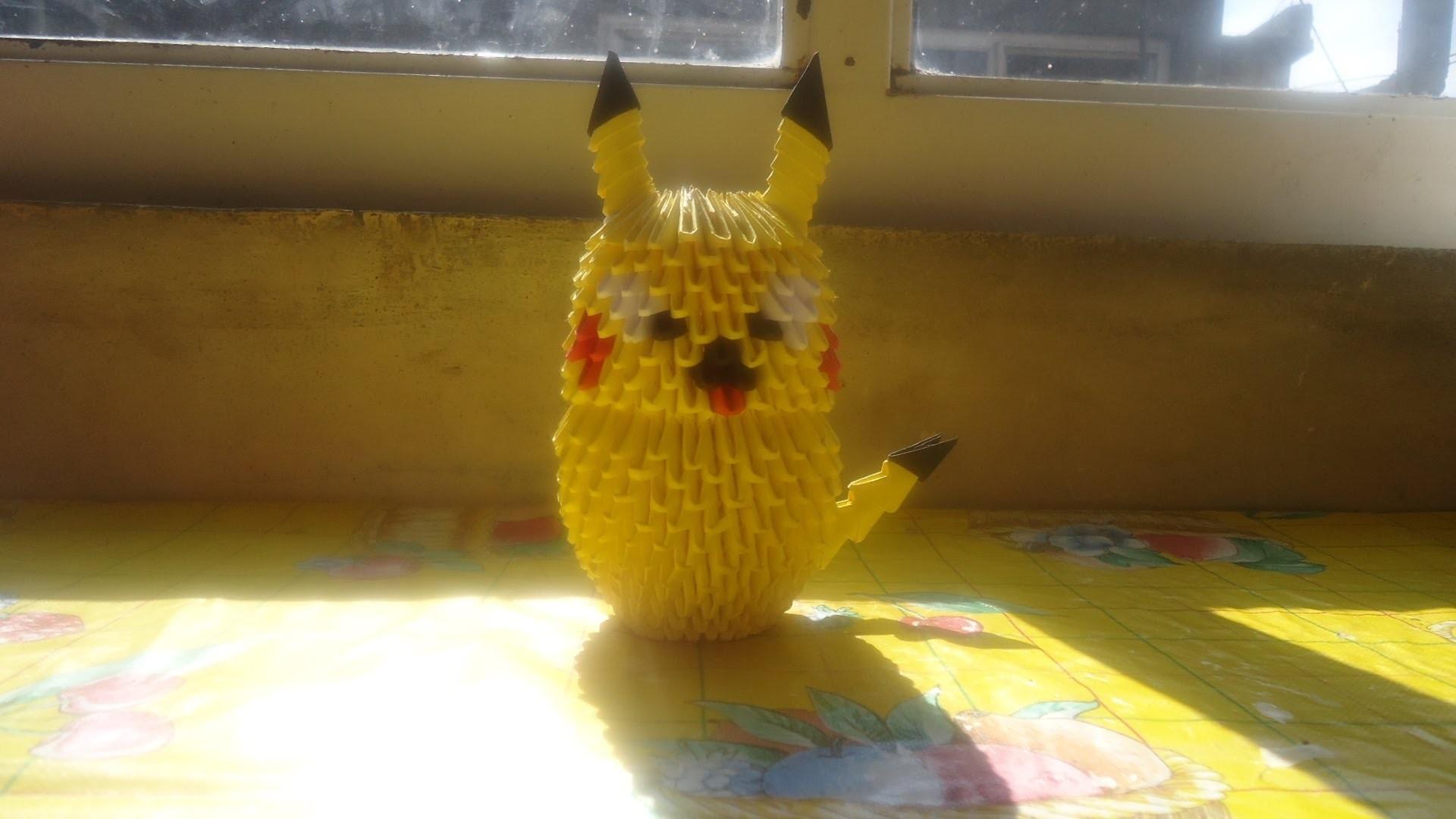 Como hacer un pikachu de origami en 3d (parte 4)