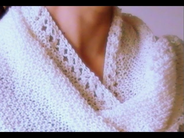 Cómo Tejer CHAL REVERSIBLE-How to Knit Reversible Shawl 2 Agujas (328)