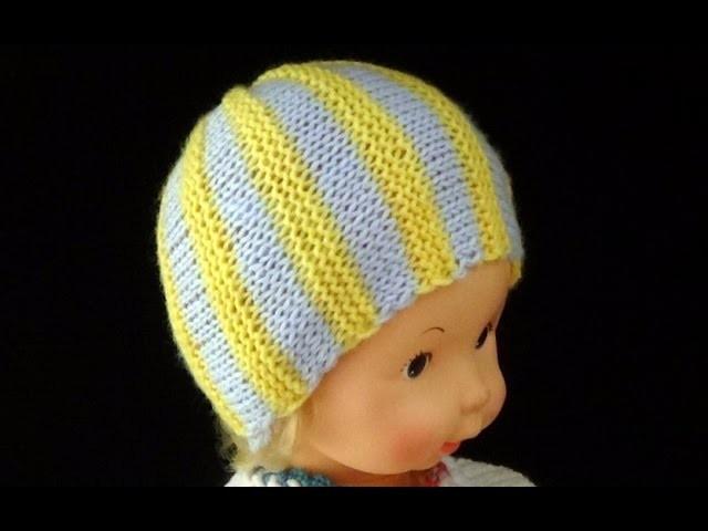 Cómo Tejer Gorrito para Recién Nacido-Newborn Baby Hat 2 Agujas (297)