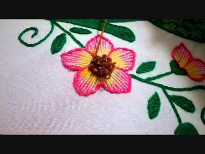 Continuación Flor 3 en Colores Bordado Fantasía