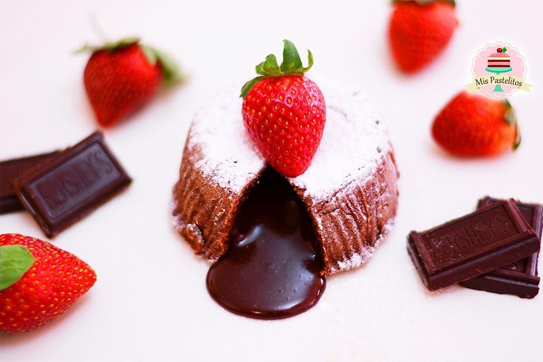 COULANT.VOLCÁN DE CHOCOLATE | LAVA CAKE | MOLTEN CAKE | MIS PASTELITOS