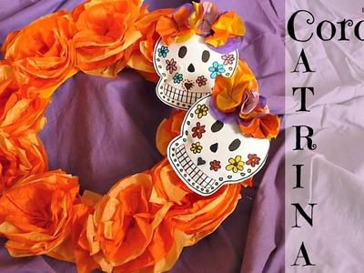 Decoración para Halloween y El Día de los Muertos, Halloween Wreath Tutorial, Corona halloween