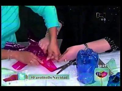 FAROLES CON BOTELLAS PLASTICAS COMO HACERLOS