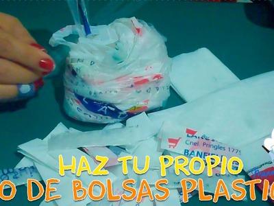 ¡CÓMO HACER HILO DE BOLSAS PLÁSTICAS!