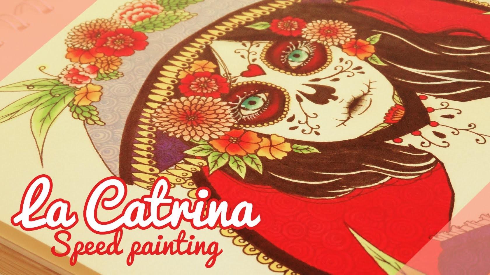 ♡ La Catrina ♡. Speed painting. Painting process By Piyoasdf