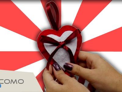 Manualidades navideñas fáciles: corazón