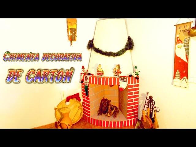 Manualidades para Navidad: chimenea decorativa de cartón -  Santiago y sus ideas