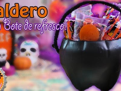 Mini Caldero de bruja para dulcero.Halloween. Floritere