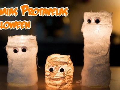 Momias Portavelas de Halloween