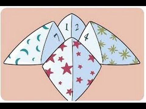 Origami Oraculo, como hacer origami oraculo facil