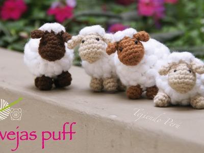 Ovejas puff (como pomponcitos :) tejidas a crochet. amigurumi!