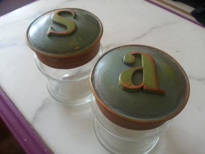 RECICLAJE 3. Como decorar envases de vidrio. How to decorate glass containers