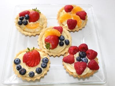 Tartaletas con crema pastelera - Receta navideña - La receta de la abuelita
