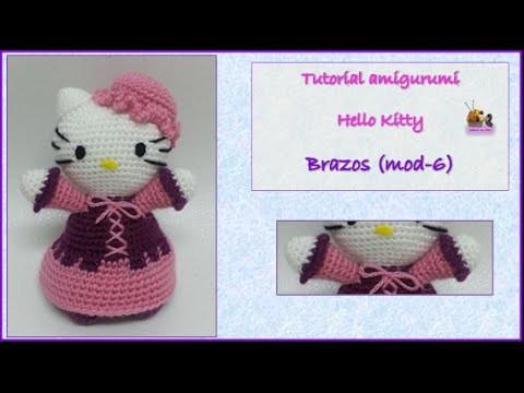 Tutorial amigurumi Hello Kitty - Brazos (mod-6)