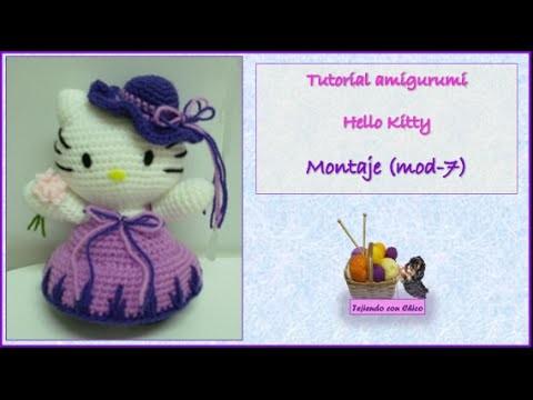 Tutorial amigurumi Hello Kitty - Montaje (mod-7)