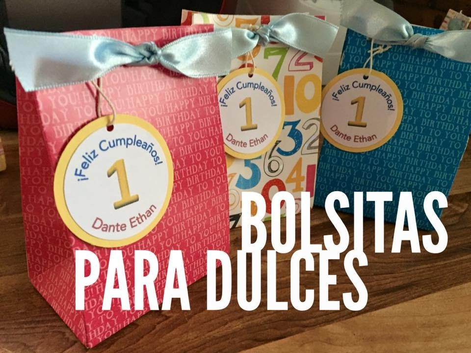 TUTORIAL Bolsita para dulces con Gift Bag Punch Board
