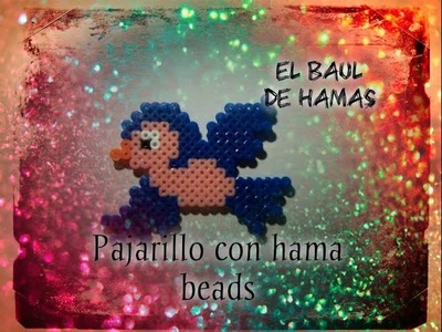 ❤TUTORIAL: Pajarillo azul con hama beads❤
