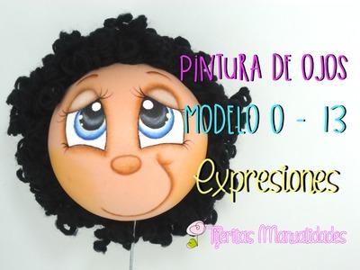 Básicos - Pintura de ojos Modelo O-13 - Expresiones - #TijeritasManualidades