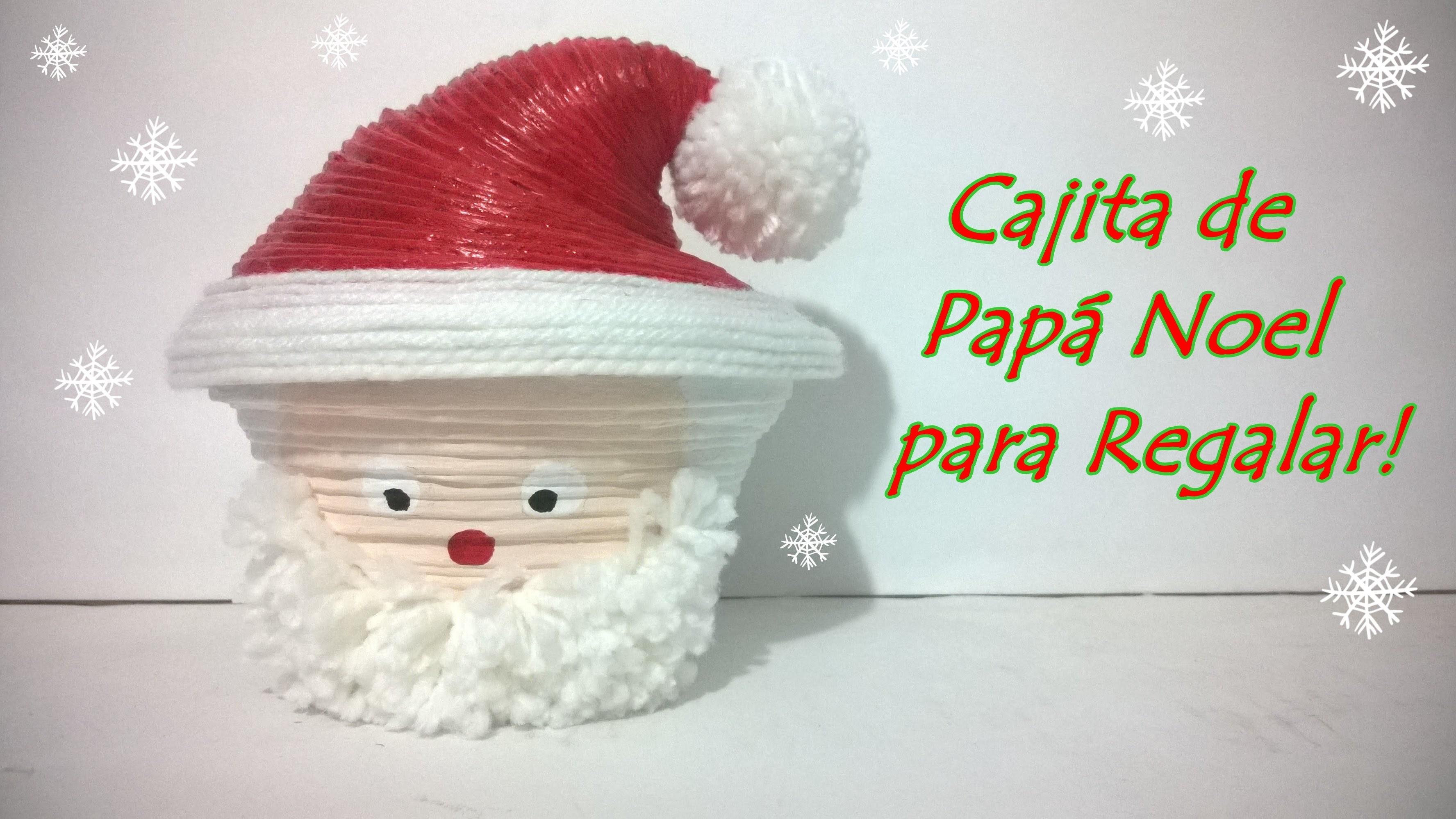 Cajita de Papa Noel para regalar! - Aprende a hacer esta bella cajita para dársela a tus  amigos!