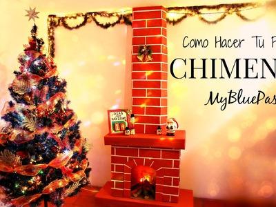 Como decorar para navidad. como hacer una chimenea. MyBluePas