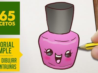 COMO DIBUJAR UN PINTAUÑAS KAWAII PASO A PASO - Dibujos kawaii faciles - How to draw a nail polish