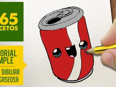 COMO DIBUJAR UNA GASEOSA KAWAII PASO A PASO - Dibujos kawaii faciles - How to draw a soda can