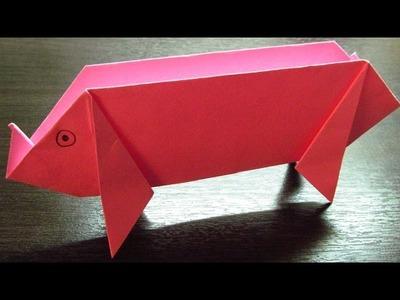 Como hacer un CERDO DE PAPEL | Animales de papel (Muy fácil)