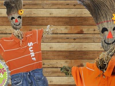 Como hacer un Espanta-Pájaros para decorar en Otoño.Halloween.Floritere