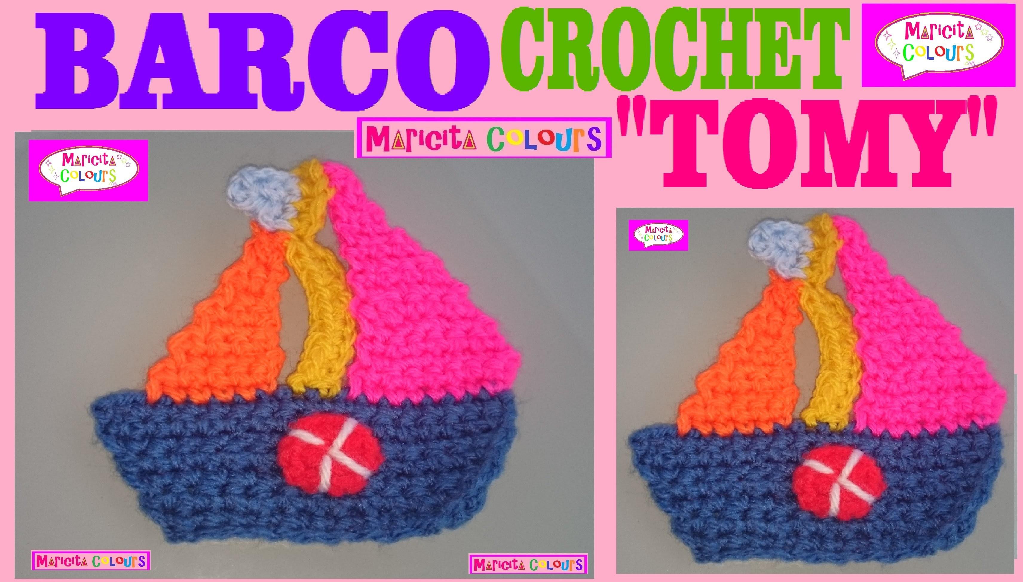 """Crochet Barquito """"Tomy""""  Aplicación Crochet por Maricita Colours"""