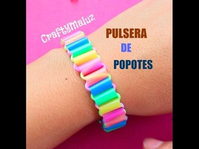 ♥ DIY: Pulsera de Popotes- fácil y bonita
