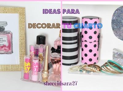Dos ideas para decorar tu habitación