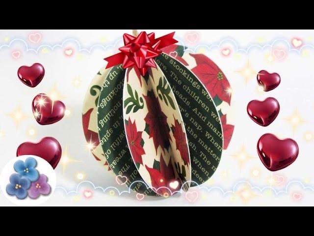 Esferas Navideñas de Papel: MUY FACIL - Christmas Adornos de Navidad 2015 Scrapbook Pintura Facil