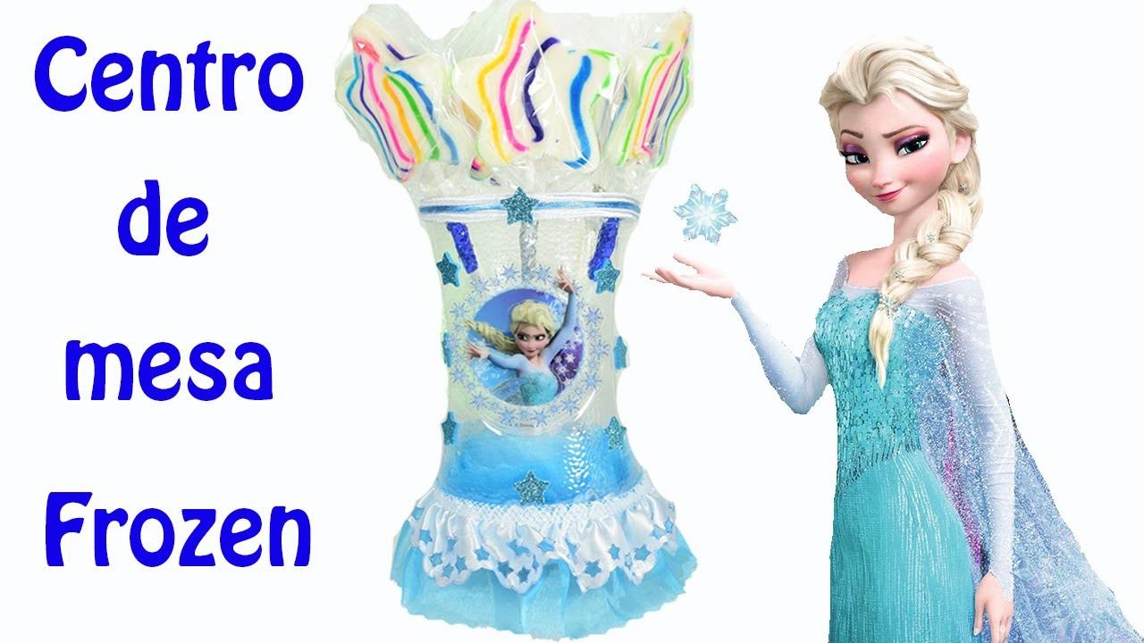Frozen Centro de mesa con botellas de plastico | El Mundo de MyG