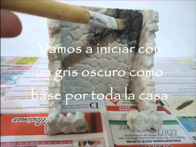 Imitación piedra casa para pesebre