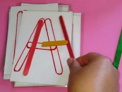 Materiales educativos hechos en casa.homemade materials