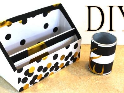 Organizador Blanco y Negro para escritorio Reciclaje + Saludos