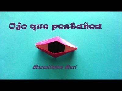 Origami - Papiroflexia, Ojo que pestañea, muy fácil