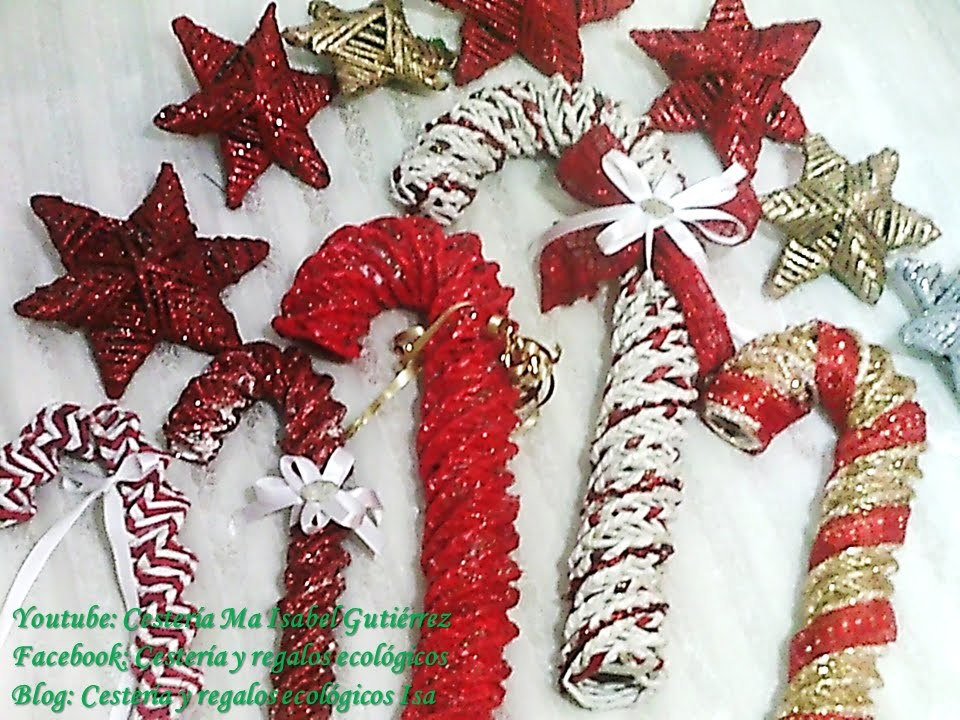 PASTORAS O BASTONES NAVIDEÑOS. Christmas decorations