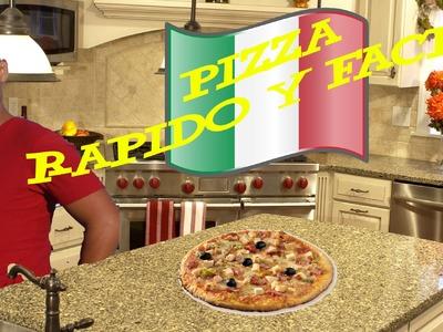 Pizza Casera Como hacerla Rapido y Facil! YUM YUM