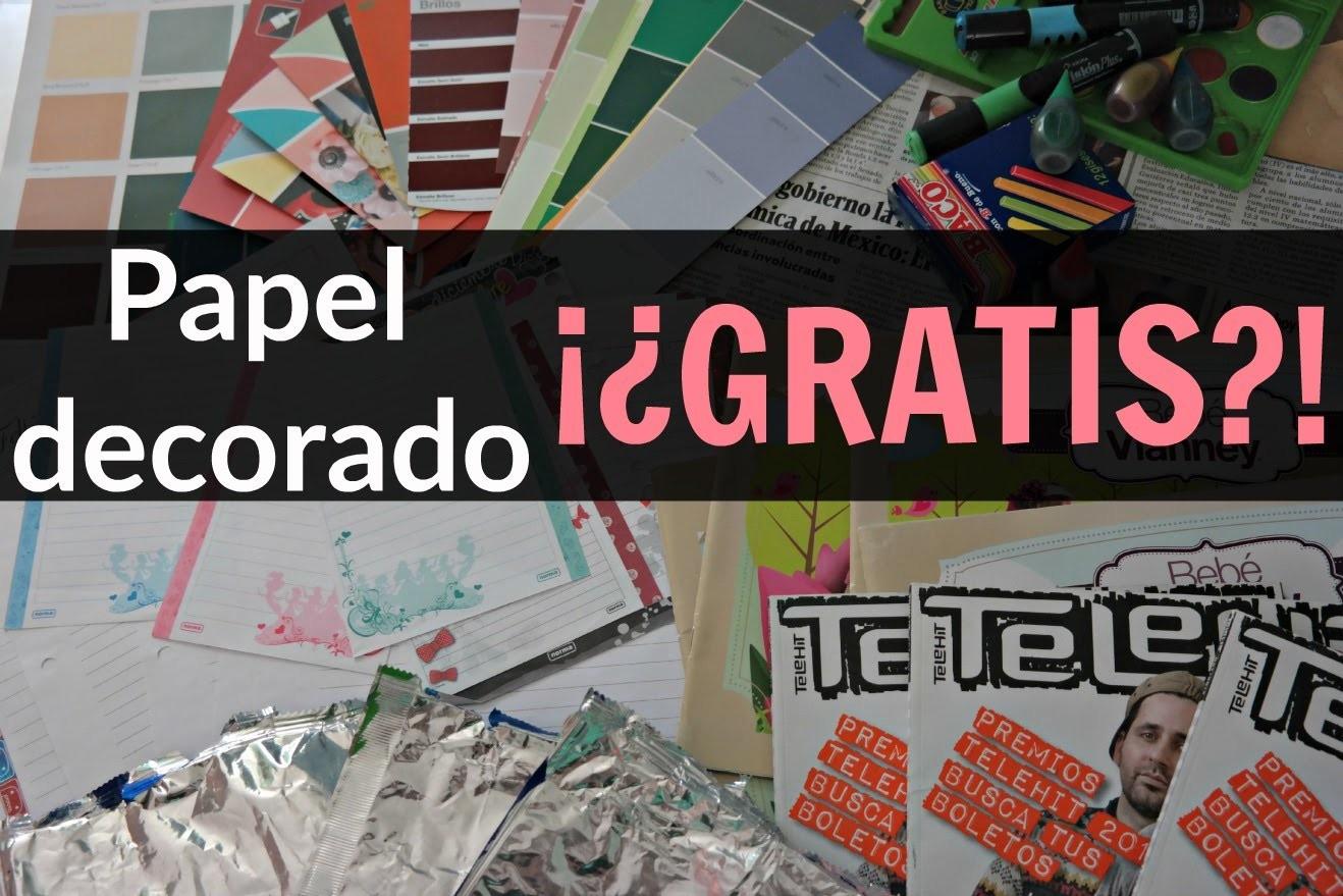 Reemplaza papel Decorado por materiales muy baratos ♥ Momento Crafter #1