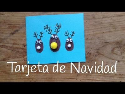 Tarjetas de Navidad para niños: renos navideños