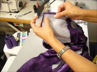 TIPS DE CONFECCION. Como  coser cierre invisible, montado en tela lisa , para telas con textura