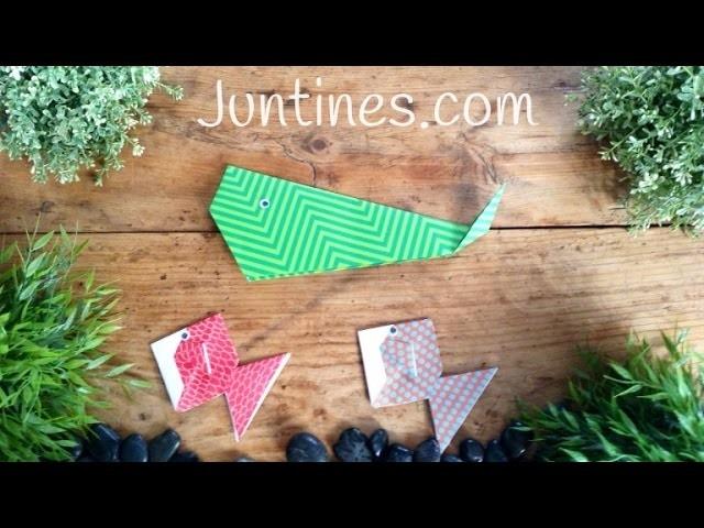 Animales con origami: Ballena de papel