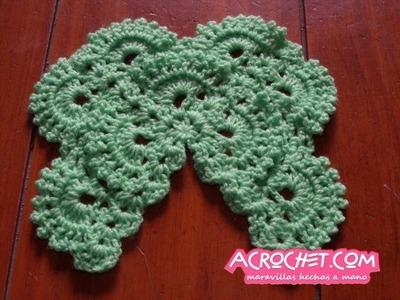 Blog Acrochet Abanicos y picos en relieve 3 lados parte 1  (Nivel intermedio)