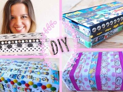 Caja estuche con tetrabricks decorada con Washi Tapes - DIY - Mery