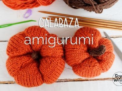 Calabaza Amigurumi tejida para decorar en Halloween