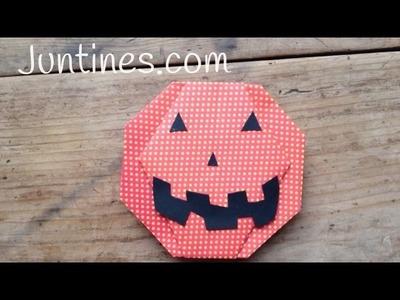 Calabaza de Halloween con papel