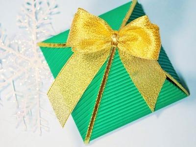 Cómo hacer una Caja de Regalo Triangular de papel con sus propias manos